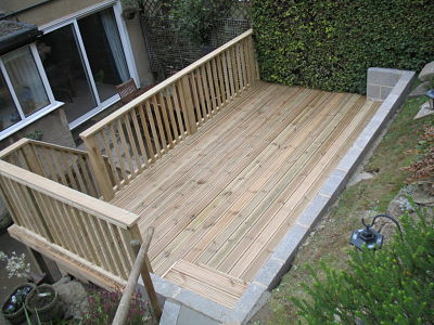 Eldwick fencing gardening services garden clearances for Garden decking before and after